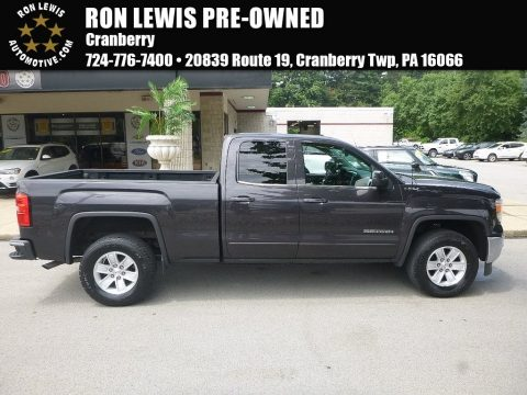 Onyx Black GMC Sierra 1500 SLE Double Cab 4x4.  Click to enlarge.