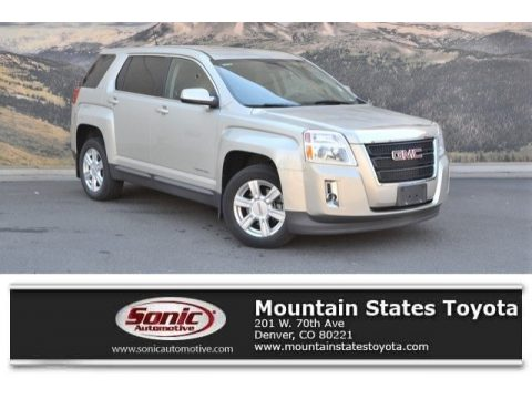Champagne Silver Metallic GMC Terrain SLE AWD.  Click to enlarge.