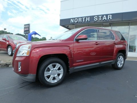Merlot Jewel Metallic GMC Terrain SLE AWD.  Click to enlarge.