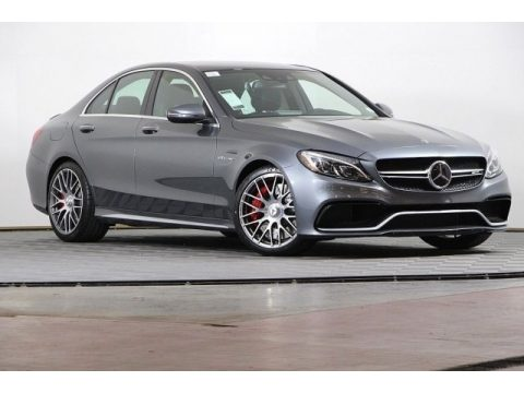 Selenite Grey Metallic Mercedes-Benz C 63 S AMG Sedan.  Click to enlarge.