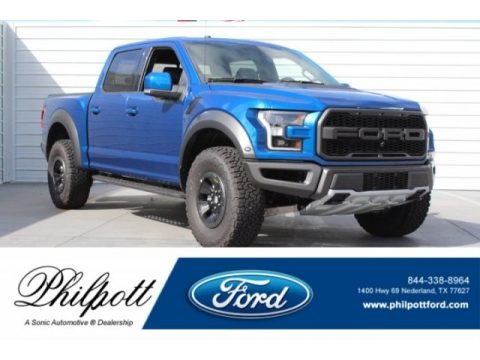 Lightning Blue Ford F150 SVT Raptor SuperCrew 4x4.  Click to enlarge.