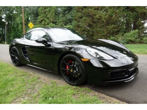 Black Porsche 718 Cayman GTS.  Click to enlarge.