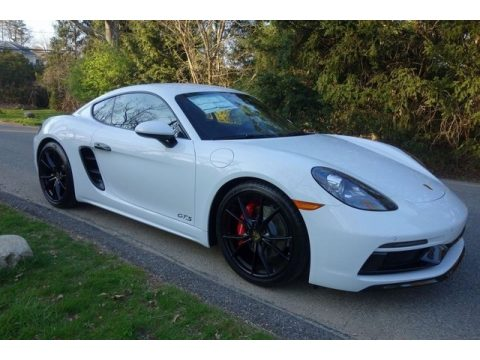 White Porsche 718 Cayman GTS.  Click to enlarge.