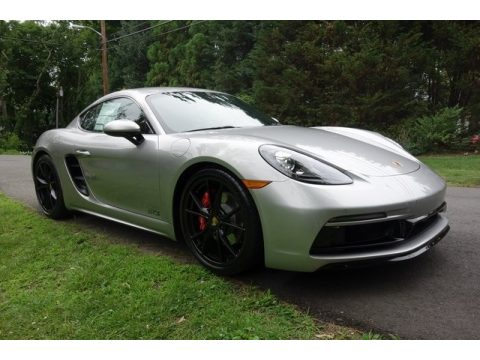 GT Silver Metallic Porsche 718 Cayman GTS.  Click to enlarge.