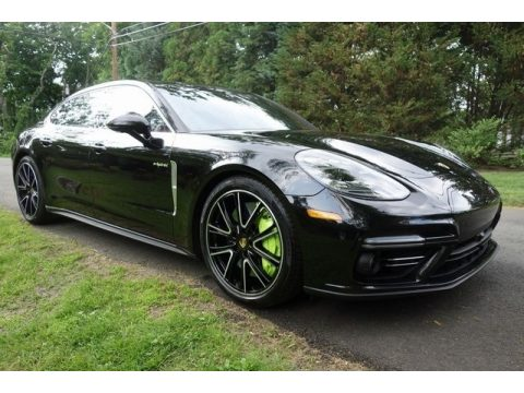 Black Porsche Panamera Turbo S E-Hybrid.  Click to enlarge.