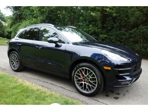 Night Blue Metallic Porsche Macan Turbo.  Click to enlarge.