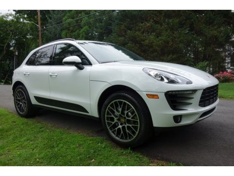 White Porsche Macan S.  Click to enlarge.