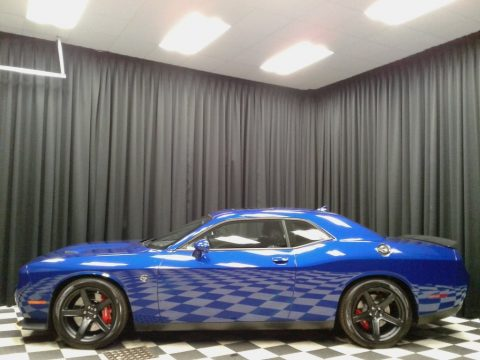 IndiGo Blue Dodge Challenger SRT Hellcat.  Click to enlarge.