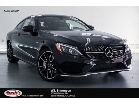 Black Mercedes-Benz C 43 AMG 4Matic Coupe.  Click to enlarge.