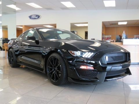 Shadow Black Ford Mustang Shelby GT350.  Click to enlarge.
