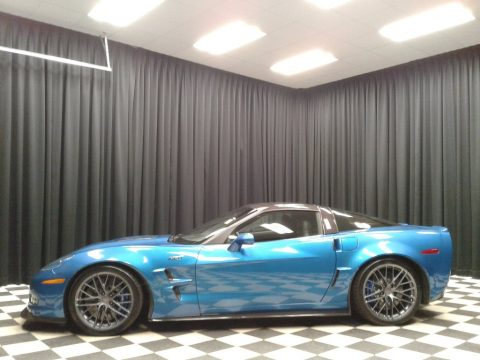 Jetstream Blue Metallic Chevrolet Corvette ZR1.  Click to enlarge.