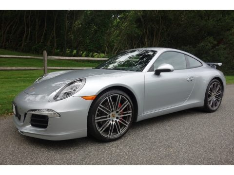 Rhodium Silver Metallic Porsche 911 Carrera S Coupe.  Click to enlarge.