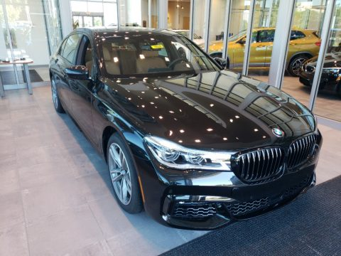 Black Sapphire Metallic BMW 7 Series 750i xDrive Sedan.  Click to enlarge.