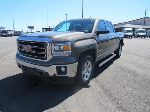 Bronze Alloy Metallic GMC Sierra 1500 SLT Crew Cab 4x4.  Click to enlarge.