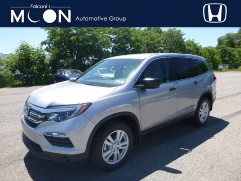 Lunar Silver Metallic Honda Pilot LX AWD.  Click to enlarge.