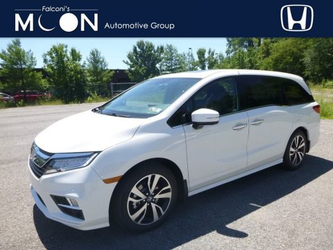 White Diamond Pearl Honda Odyssey Elite.  Click to enlarge.