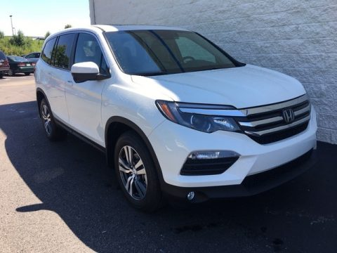 White Diamond Pearl Honda Pilot EX-L AWD.  Click to enlarge.