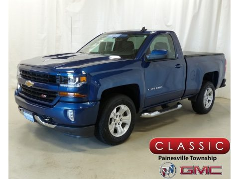 Deep Ocean Blue Metallic Chevrolet Silverado 1500 LT Regular Cab 4x4.  Click to enlarge.