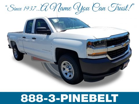 Summit White Chevrolet Silverado 1500 WT Double Cab.  Click to enlarge.