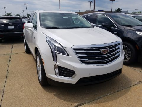 Crystal White Tricoat Cadillac XT5 Luxury AWD.  Click to enlarge.