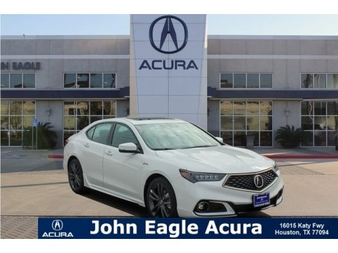 Platinum White Pearl Acura TLX A-Spec Sedan.  Click to enlarge.