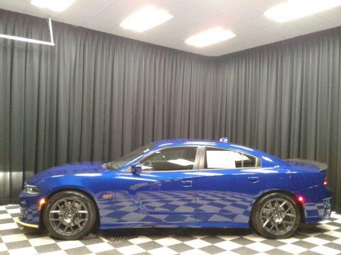 IndiGo Blue Dodge Charger R/T Scat Pack.  Click to enlarge.