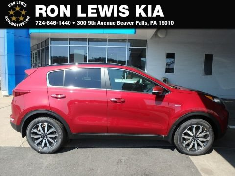 Hyper Red Kia Sportage EX AWD.  Click to enlarge.