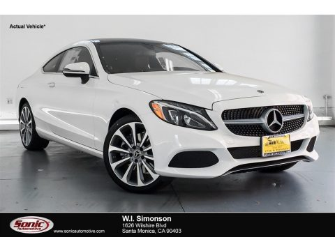 Polar White Mercedes-Benz C 300 Coupe.  Click to enlarge.