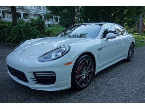 White Porsche Panamera Turbo.  Click to enlarge.