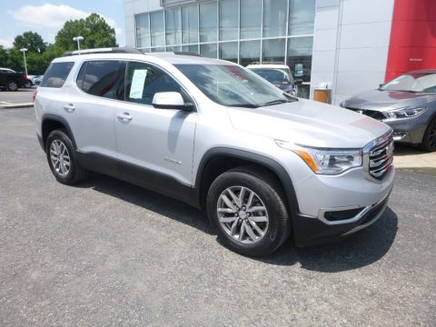 Sparkling Silver Metallic GMC Acadia SLE AWD.  Click to enlarge.