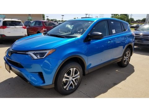 Electric Storm Blue Toyota RAV4 LE.  Click to enlarge.