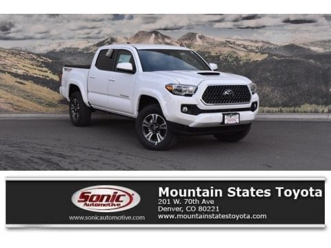 Super White Toyota Tacoma TRD Sport Double Cab 4x4.  Click to enlarge.