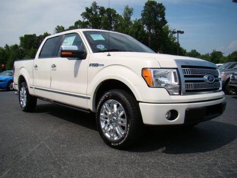 White Sand Tri Coat Metallic 2009 Ford F150 Platinum SuperCrew with Medium