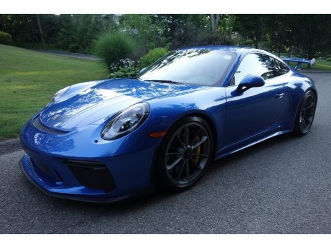 Sapphire Blue Metallic Porsche 911 GT3.  Click to enlarge.