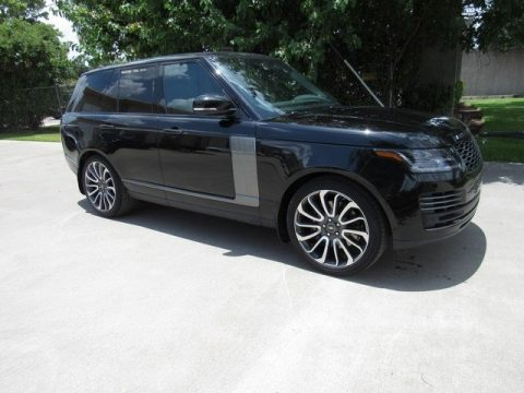 Santorini Black Metallic Land Rover Range Rover Autobiography.  Click to enlarge.