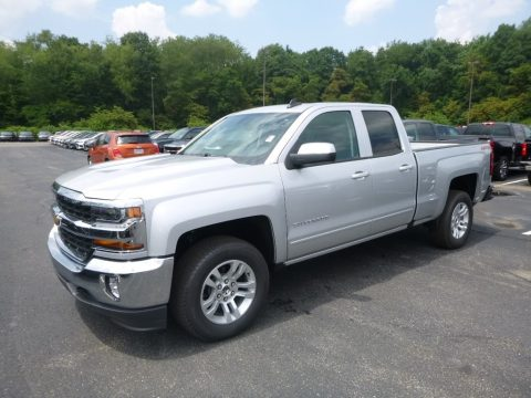 Silver Ice Metallic Chevrolet Silverado LD LT Double Cab 4WD.  Click to enlarge.