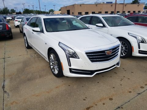 Crystal White Tricoat Cadillac CT6 3.6 AWD Sedan.  Click to enlarge.