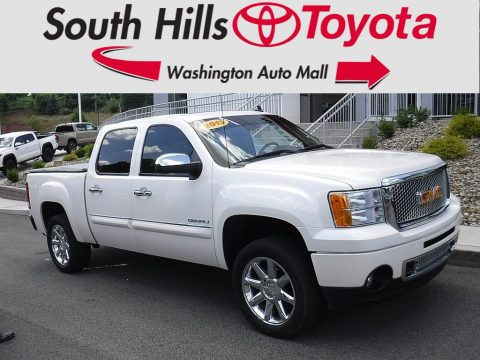 White Diamond Tricoat GMC Sierra 1500 Denali Crew Cab AWD.  Click to enlarge.