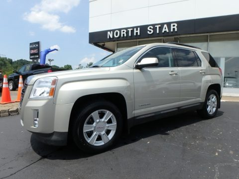 Champagne Silver Metallic GMC Terrain SLT AWD.  Click to enlarge.