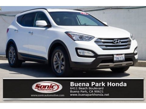Frost White Pearl Hyundai Santa Fe Sport.  Click to enlarge.