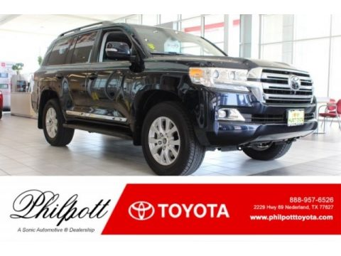 Onyx Blue Pearl Toyota Land Cruiser 4WD.  Click to enlarge.