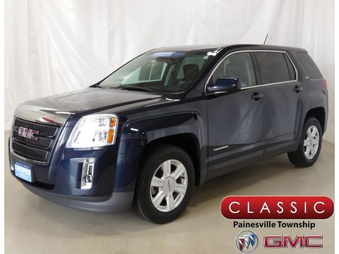 Dark Sapphire Blue Metallic GMC Terrain SLE.  Click to enlarge.
