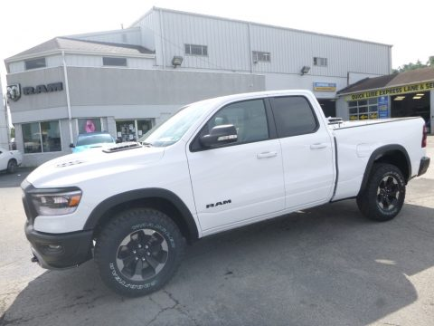 Bright White Ram 1500 Rebel Quad Cab 4x4.  Click to enlarge.