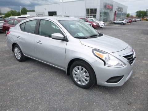 Brilliant Silver Nissan Versa SV.  Click to enlarge.