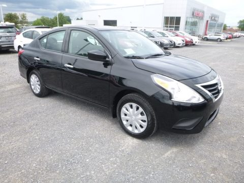 Super Black Nissan Versa SV.  Click to enlarge.