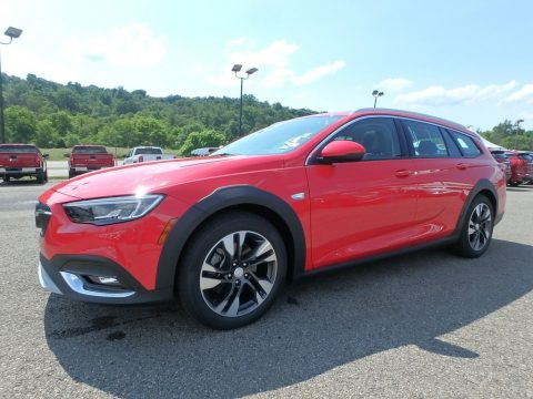 Sport Red Buick Regal TourX Essence AWD.  Click to enlarge.