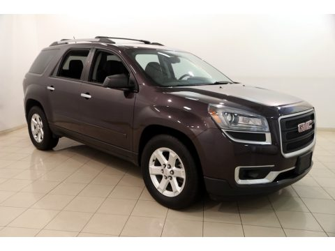 Midnight Amethyst Metallic GMC Acadia SLE AWD.  Click to enlarge.