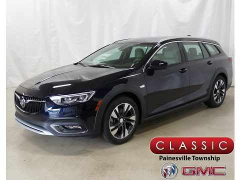 Darkmoon Blue Metallic Buick Regal TourX Essence AWD.  Click to enlarge.
