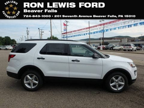 Oxford White Ford Explorer FWD.  Click to enlarge.
