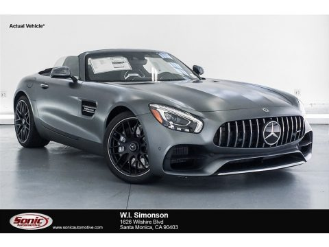 designo Selenite Grey Magno (Matte) Mercedes-Benz AMG GT Roadster.  Click to enlarge.